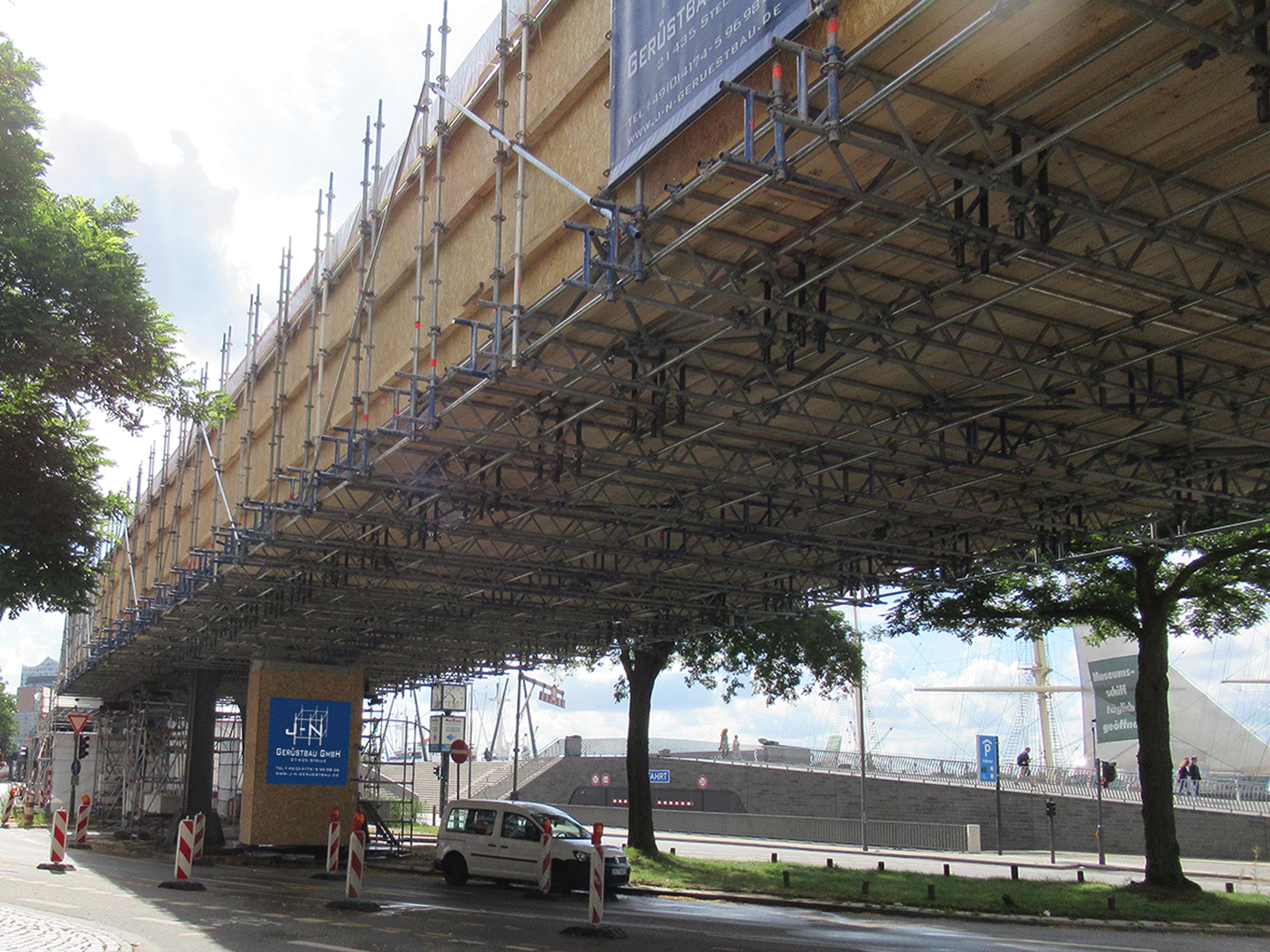 U-Bahn-Stahlviadukt Landungsbrücken